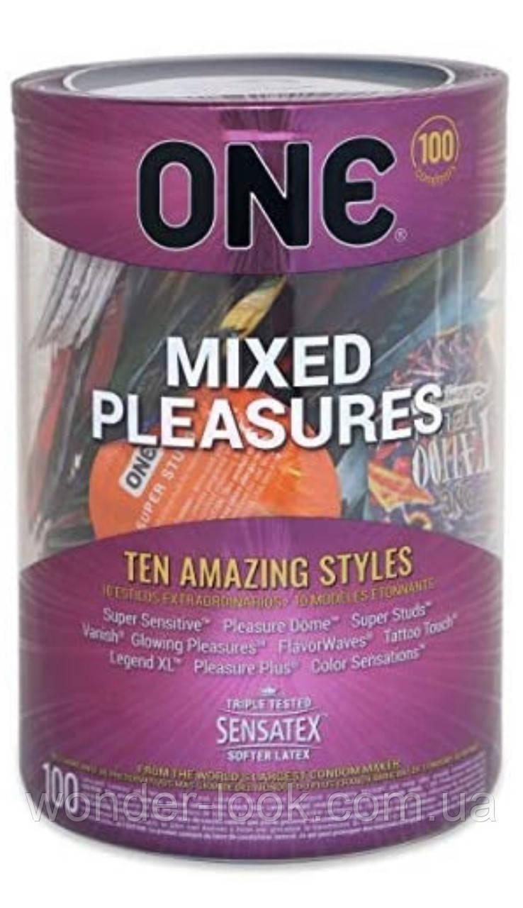 Набор презервативов One mixed pleasures 100 шт