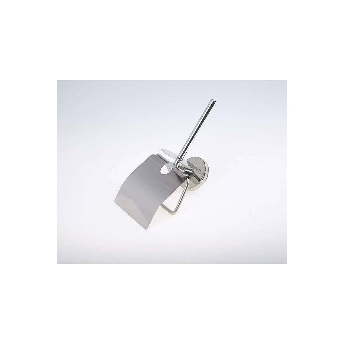 Держатель бумаги туалетной с крышкой двойной, нержавеющая сталь (A.3610)
