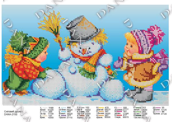 Схема для вышивки Снежный друг
