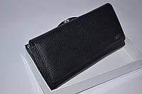 Женский кожаный кошелек Hassion W1 черный матовый