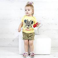 """Детский летний комплект для девочки с шортиками и футболкой """"Minnie"""" - рост 68/74/80"""