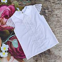 "Школьная блузка с коротким рукавом ""Мэри"" (140р)"