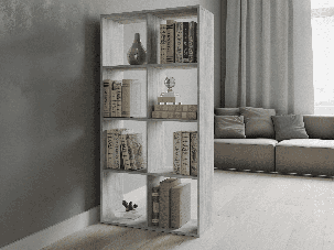Полка - шкаф для книг, стеллаж для зонирования дома на 8 ячеек P0017, фото 2