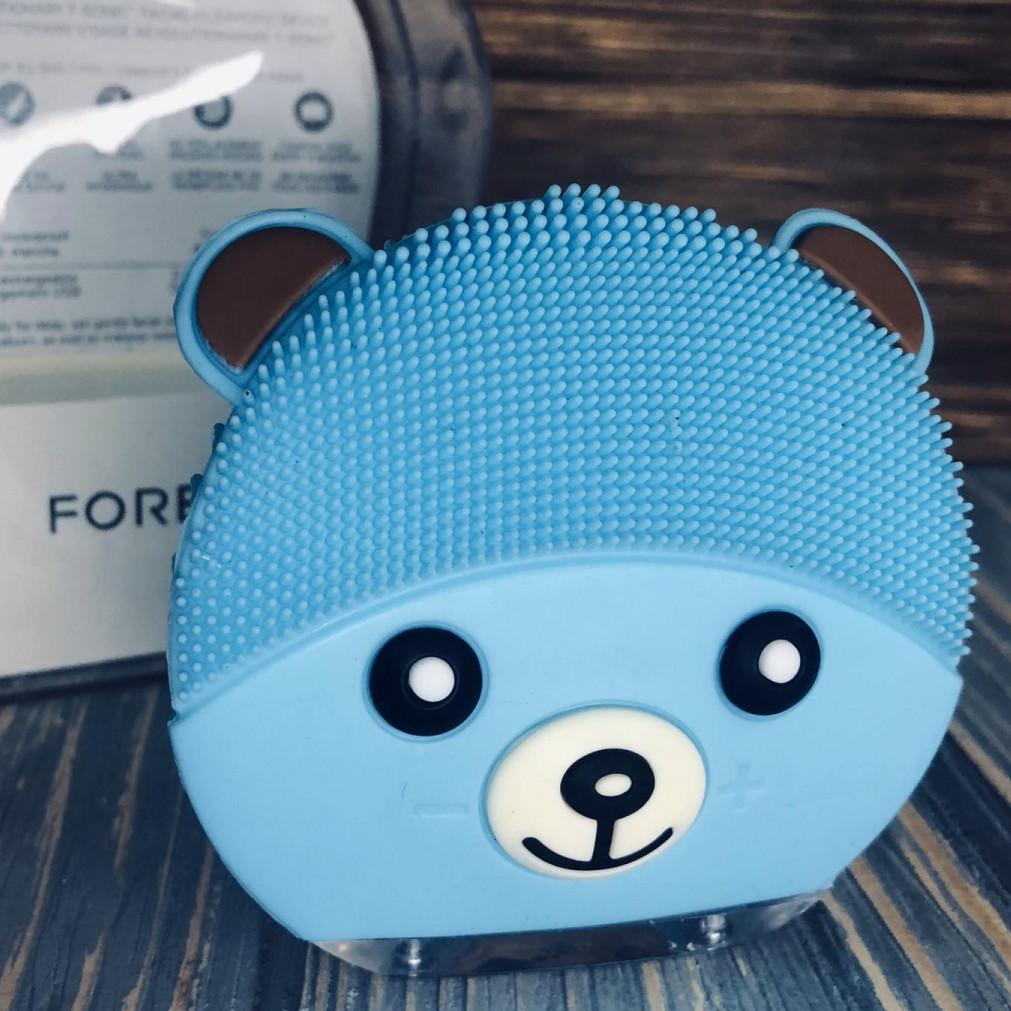 Электрическая щетка-массажер для чистки лица Forever Голубая