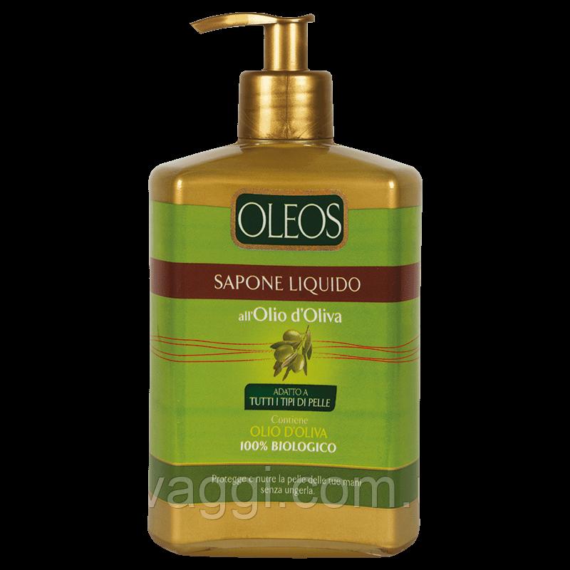 """Рідке мило з маслом Оливки Oleos Sapone Liquido Полотно D""""Oliva Dispenser 500 ml"""