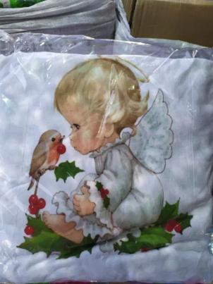 Детское покрывало, крыжма ангелочки 100х100, фото 2