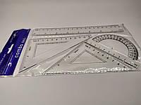 Набор измерительных принадлежностей (линейка+угольник2+транспортир)