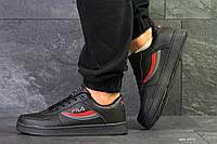 Мужские осенние кроссовки (в стиле) Fila,черные