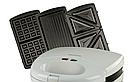 Сэндвичница, гриль, вафельниця, з трьома змінними пластинами 3 в 1 DSP KC1049, фото 4
