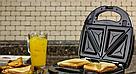 Сэндвичница, гриль, вафельниця, з трьома змінними пластинами 3 в 1 DSP KC1049, фото 5