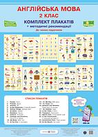 Комплект плакатів. Англійська мова. 2 клас. (До чинних підручників згідно програми НУШ).