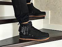 Мужские осенние высокие кроссовки (в стиле) Nike Air Force 1,черные