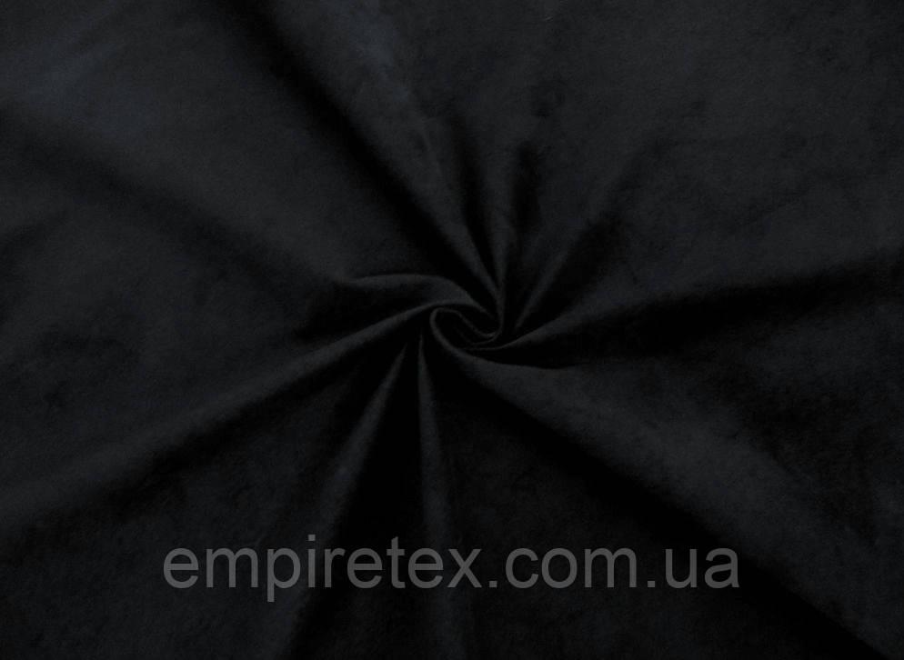 Замша стрейч Черный