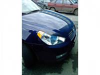 "Накладки на фары (Реснички) Hyundai Accent ""Широкие"""