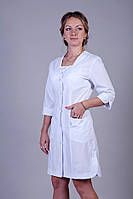 "Медицинский халат женский ""Health Life"" х/б белый 2119"