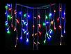 Гирлянда светодиодная LTL Sople занавес 200 led длина 6.4 метра  разноцветная RGB + переходник, фото 6
