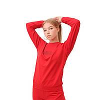 Свитшот женский, реглан с принтом, батник трикотажный женский, світшот жіночий, Simple 2 Красный