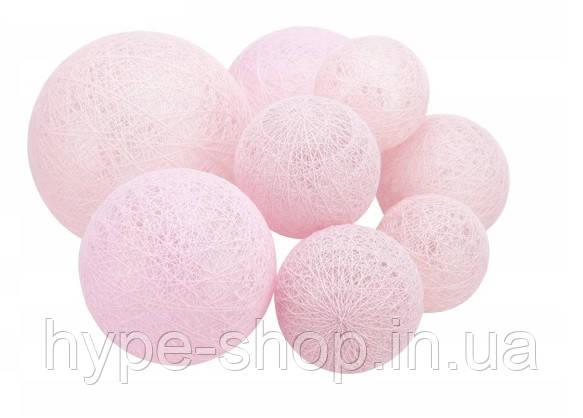 Гирлянда тайская  LTL Rose Cotton Balls 8led, длина 180см на батарейках АА