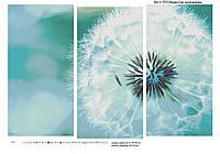 Суцвіття кульбаби Схеми (триптих ) повної зашиття бісером