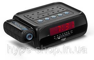 Радіо, годинник, будильник з проектором. Живлення 220в, батарейки Adler AD 1120