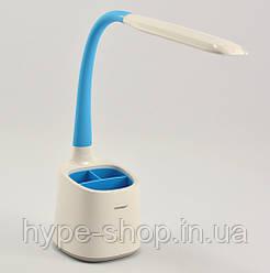 Світлодіодна настільна лампа TIROSS TS-1809 blue 6w 60led 3 режими світла