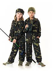 Костюм детский Лесоход для мальчиков камуфляж темный лес