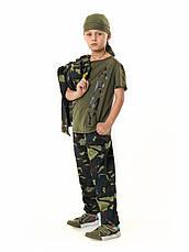 Костюм детский Лесоход для мальчиков камуфляж темный лес, фото 3