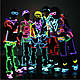 Гибкий светодиодный неон LTL Прозрачный синий Neon Glow Light Transparent - 3 метра ленты,  на батарейках 2 AA, фото 9