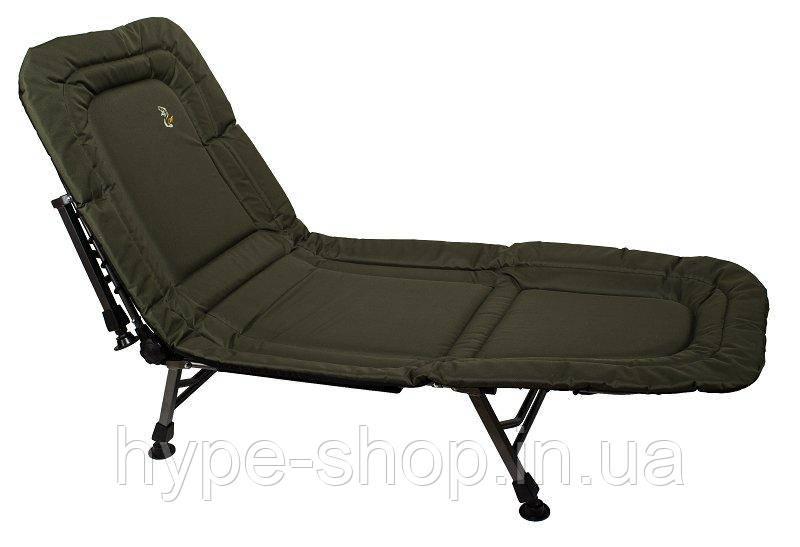 Раскладушка-кровать для рыбалки и отдыха Elektrostatyk L8, на 8 ножек, усиленная