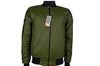 Куртка весенняя для мальчика,куртка бомбер для подростка(34-40)оливка