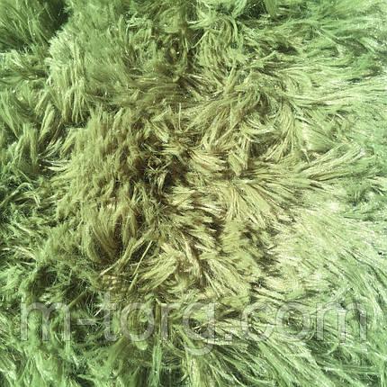 """""""зеленый"""" пушистый плед """"травка"""" евро размер 220*240 см, фото 2"""