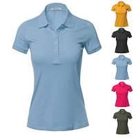 Однотонная футболка поло (для печати, женская) Цена с НДС