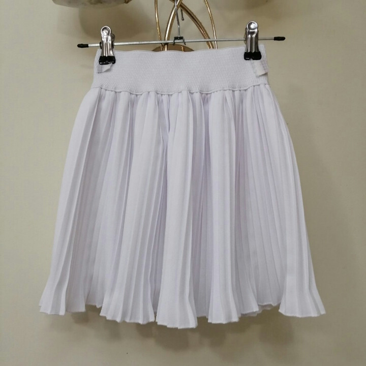 Белая спортивная юбка танцев