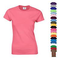 Однотонная футболка  (для печати, коттон Premium, женская) Цена с НДС