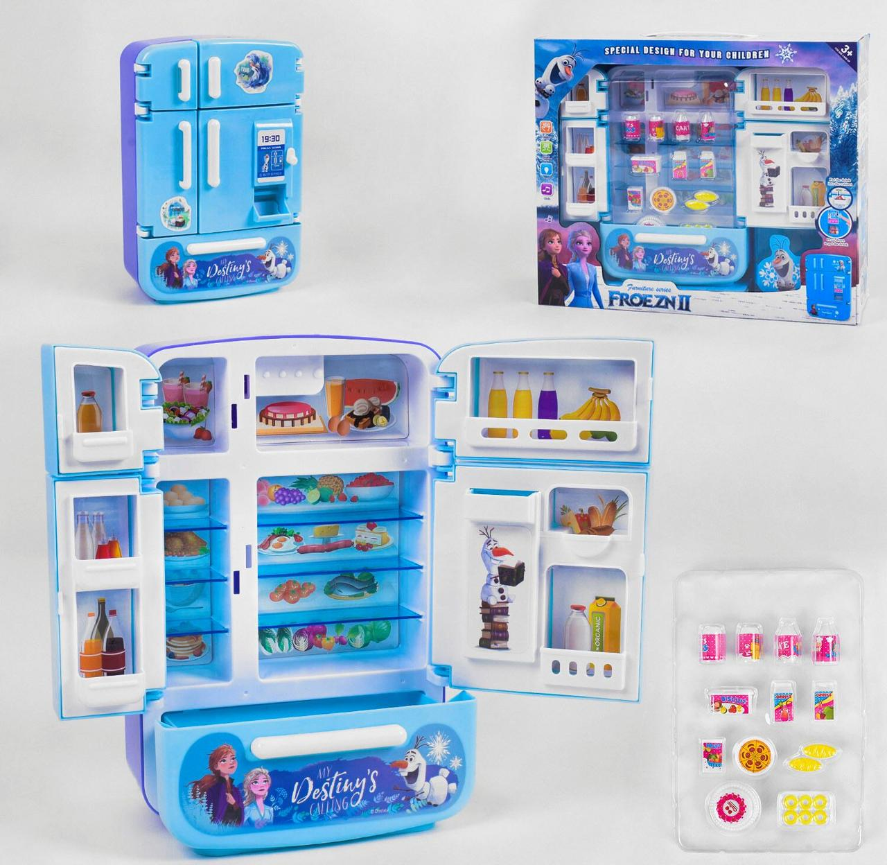 Холодильник игрушечный свет, звук, в коробке
