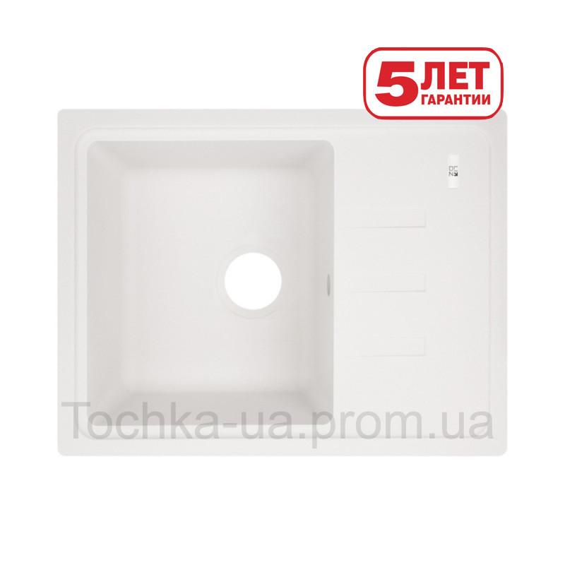 Кухонная мойка Lidz из искусственного камня (Белая)