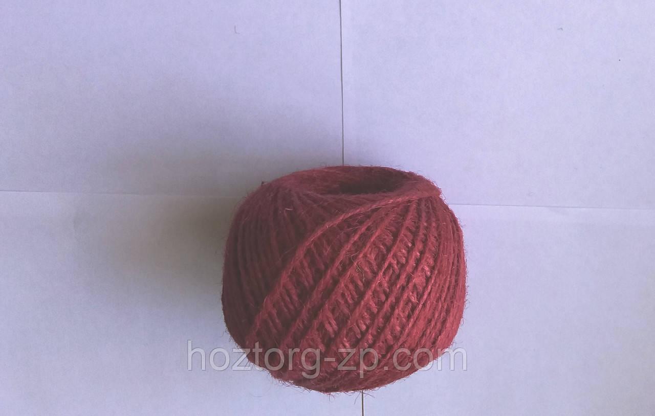 Шпагат(нитка) джутовая цветная для рукоделия