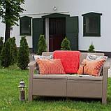 Набор садовой мебели Corfu Rest Without Coffee Table Cappuccino ( капучино ) из искусственного ротанга (Keter), фото 4