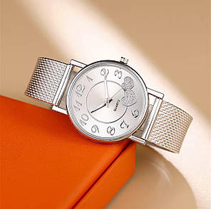 Часы женские с сердечками, фото 2