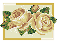 Схема для вышивки бисером Сб-415 Кремовые розы
