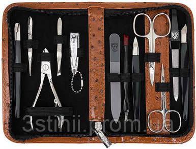 Маникюрный набор Kellermann 12 предметов 5705MCN CUT Коньяк