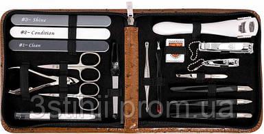 Маникюрный набор Kellermann 18 предметов 5731MCN CUT Коньяк
