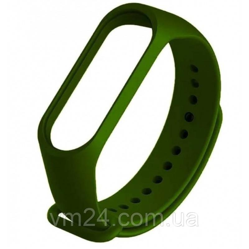 Ремінець Xiaomi Mi Band 5 якісні силіконовий ремінець темно Зелений