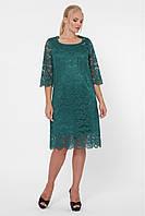 Кружевное платье Элен каре большого размера 52-58 разные расцветки