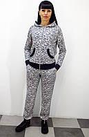 Стильный спортивный костюм женский с брюками 2020 Миндаль ( Штрихи)