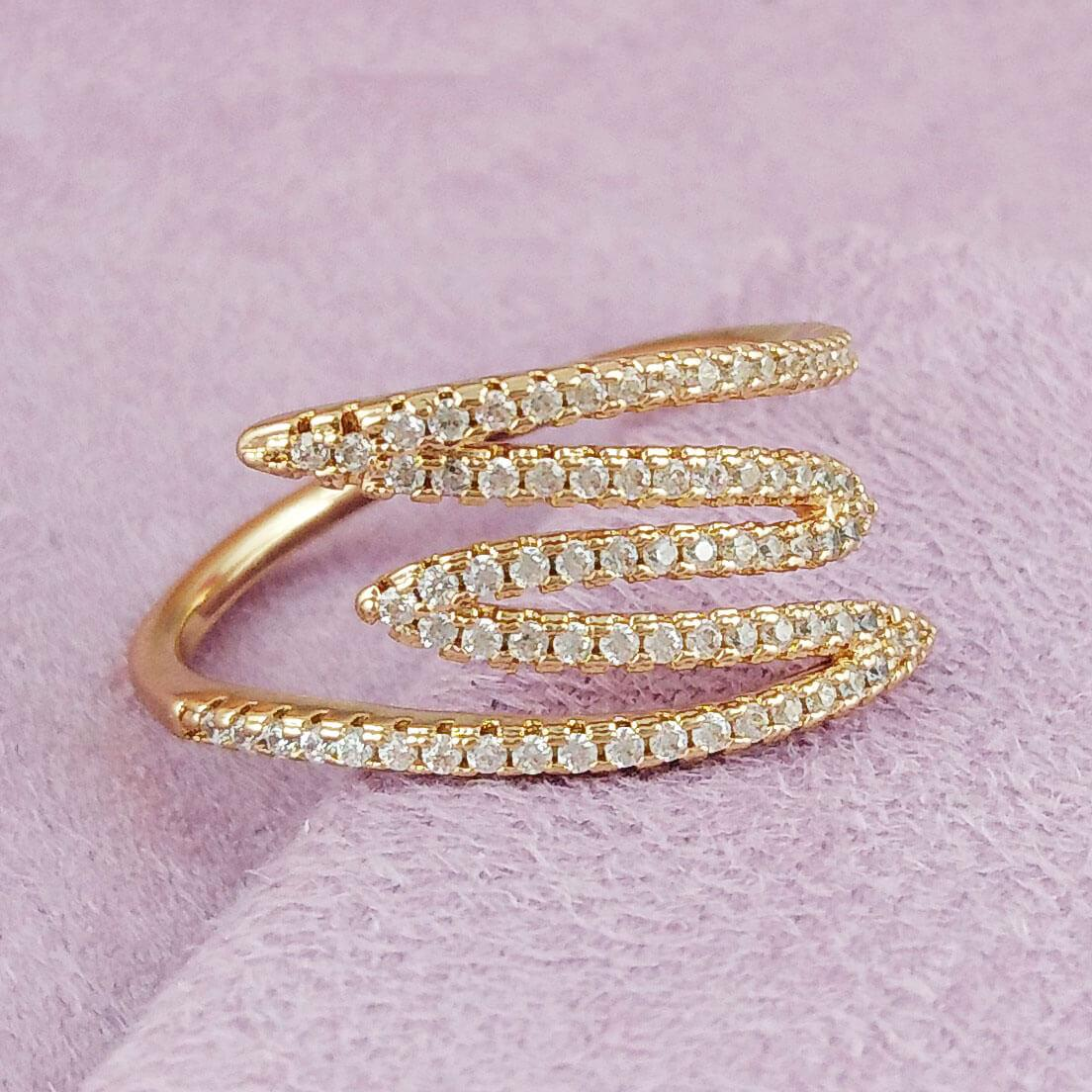 Кольцо Xuping Jewelry размер 18 Нелли медицинское золото позолота 18К А/В 2-0198
