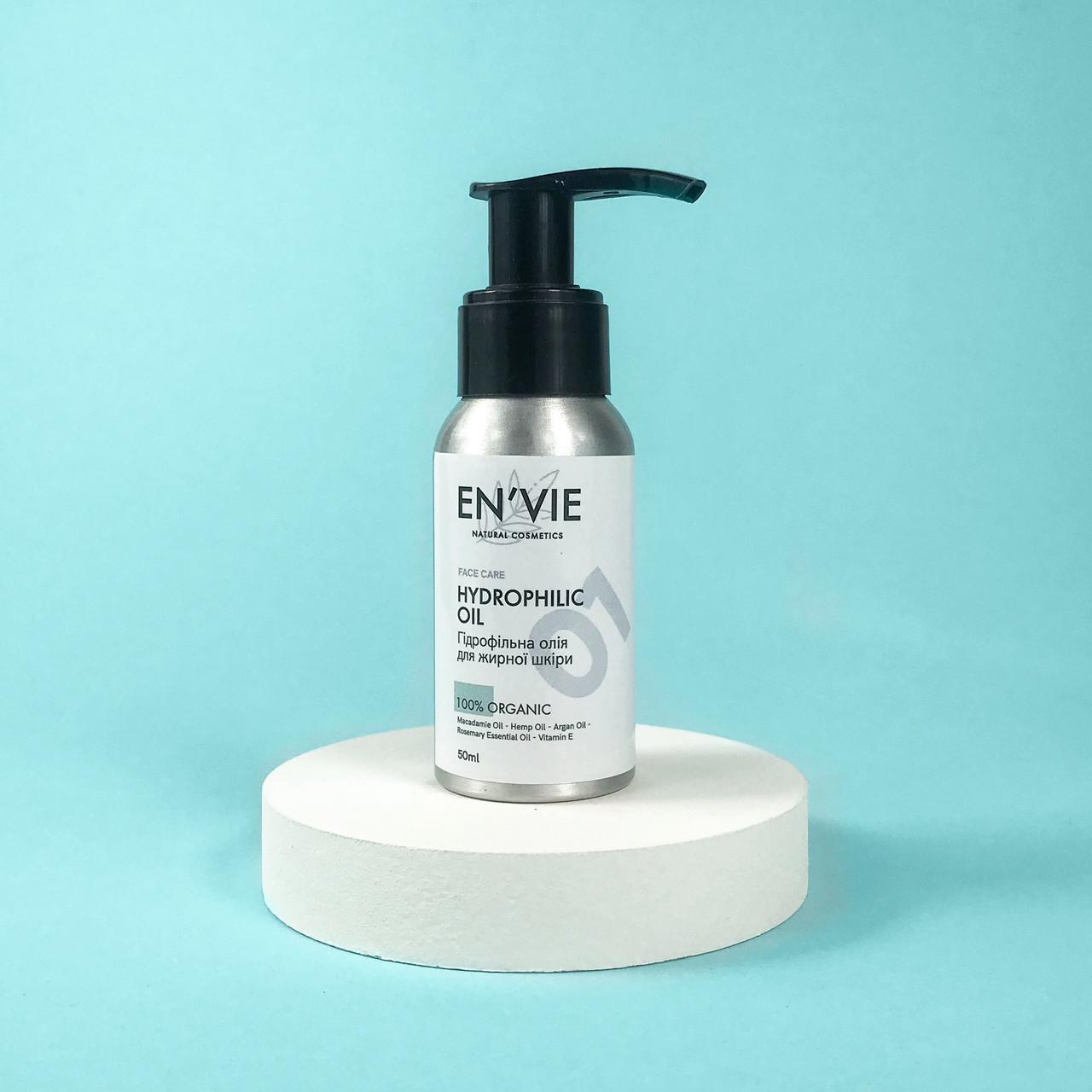 Гидрофильное масло для жирного типа кожи (умывание лица, удаление макияжа) EN`VIE 50 мл.