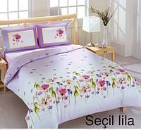 Постельное бельё евро Altinbasak Secil lila