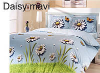 Постельное бельё евро Altinbasak Daisy mavi