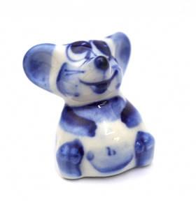 9380539 Фигурка керамическая Мишка гжель